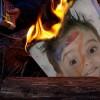 Efecto foto quemándose