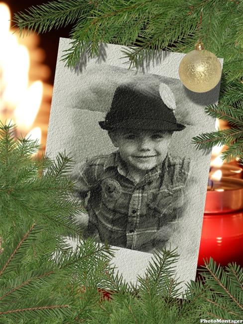 Efecto para foto con estilo navideño