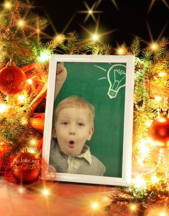 Estilo navideño para tu foto en un cuadro