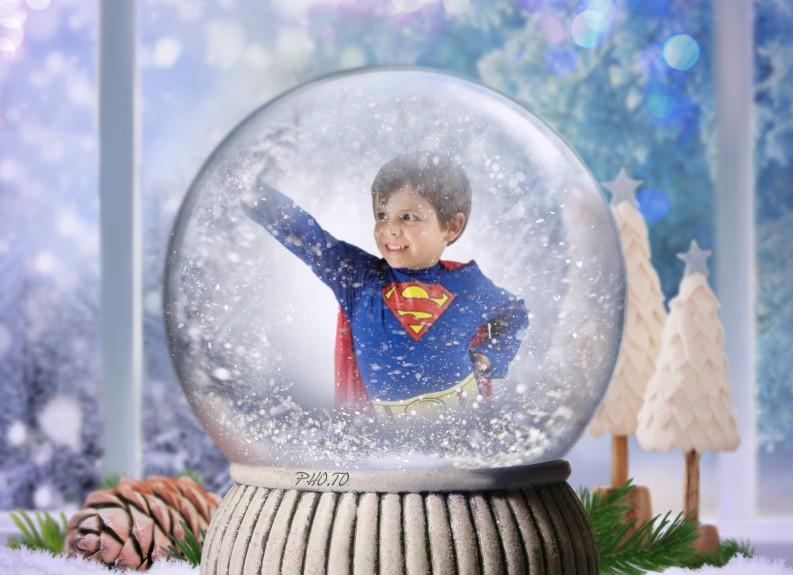 Fotomontaje estilo navideño