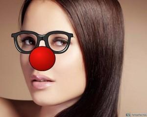 Fotomontajes divertidos con nariz de payaso