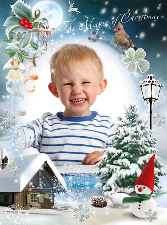 Hermoso cuadro para foto por navidad