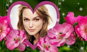 Marcos para fotos gratis con flores