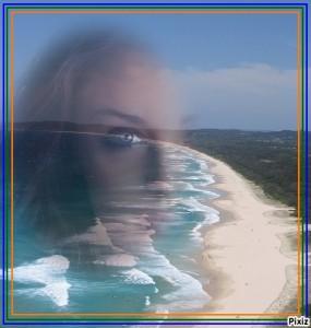Montaje de fotos en la playa