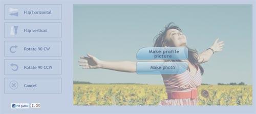 FaceBoom - Editando la foto para Facebook