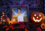 Fotomontaje de Halloween con adornos
