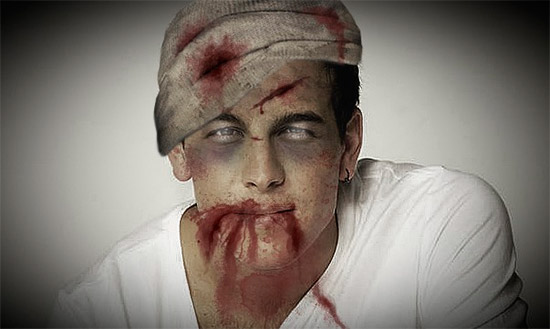 Fotomontaje de zombie