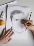 Fotomontaje dibujo a lápiz