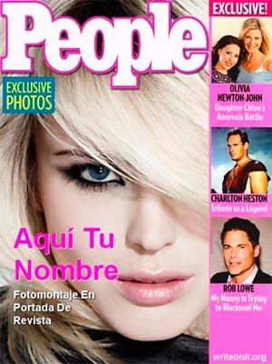 Fotomontaje portada de revista online