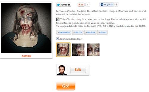 Fotomontaje Zombie