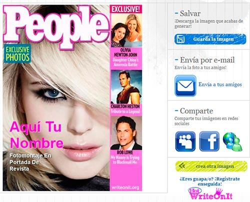 Guardar portada de revista online