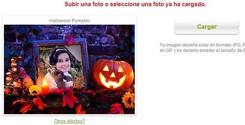 Subir fotografía de Halloween